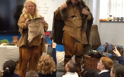 Cave men came to visit us!